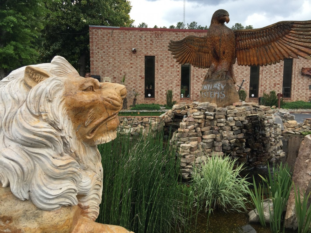 Front View (Left Lion)
